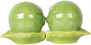 Pacific Giftware Kissing Peas in A Pod Magnetic Salt and Pepper Shakers Gift Box Set Ceramic