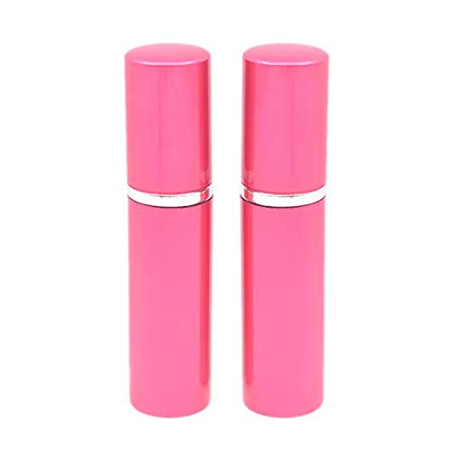 Dolovemk 2Pcs 6ml Portable Mini Refillable Perfume-Empty Spray Bottle,Used for Storing Perfumes and Liquids-Alu Metal Shell+Inner Glass Container.Stur