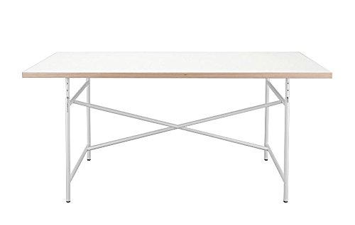 Kinderschreibtisch Schreibtisch 120 x 70 cm Eiermann Tischplatte weiß Gestell weiß von Richard Lampert