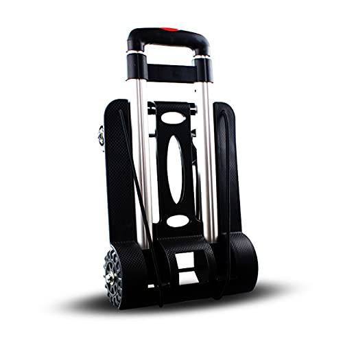 Camión de mano plegable portátil,carretilla doméstica,carro de equipaje plegable portátil de cuatro...