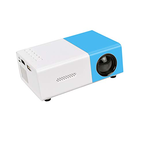 CZX YG300 LED Micro Projector 480X320 Pixel Support 1080P YG-300 HDMI USB Audio Portable Projector Home Media Video Player,Blue
