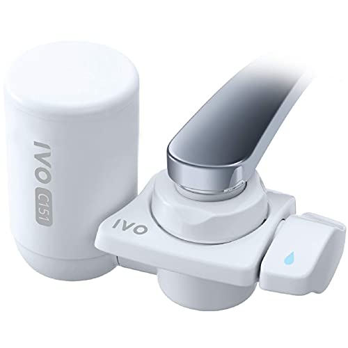IVO Faucet Filter - Faucet-Mounted Water Filtration System - NSF-Approved Filtration Technology - Remove Chlorine, Rust, Sediments, Sand & Impurities Down to 0.1 Micron