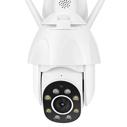 Cámara para exteriores, intercomunicador con detección de movimiento 1080P HD 355 ° Cámara WiFi de visión(European regulations)