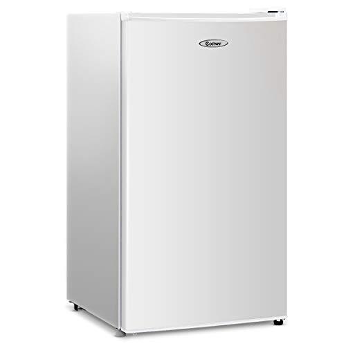 COSTWAY Frigorifero Monoporta con Congelatore Regolatore Temperatura, Mini Frigorifero Compatto, 91 Litri, 83,5 x 44,5 x 48,5 cm, 230 V/50 hz (Bianco)