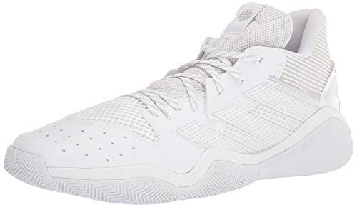 adidas unisex adult Harden Stepback Basketball Shoe, White/Grey/White, 8.5 US
