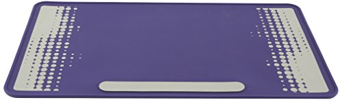 Heathrow Scientific HEA120507 Labormatte, 35 cm x 60 cm, 2 mm hoch, 1 Seite: Violett; 2 Seite: Graues Design mit Violettem Hintergrund