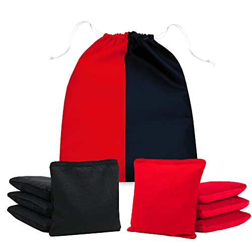 JST GAMEZ Professional Cornhole Bags All Weather Bean Bags for Cornhole Toss Set of 8 Regulation Bean Bags Includes Carry Bag