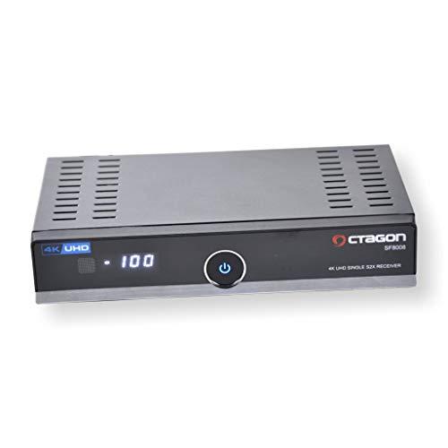 Octagon SF8008 4K UHD 2106p E2 DVB-S2X Single Tuner Receiver Kartenleser Enigma2 Linux OS HbbTV
