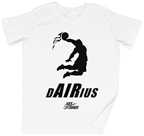 Dairius Dunked Blanca Niños Chicos Chicas Camiseta Unisexo Tamaño XL White Kid's Boys Girls tee Size XL