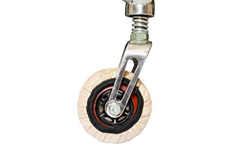RehaDesign-Rollstuhlsocken: Überzug für die Reifen der kleinen Vorderräder (Lenkräder) von Rollstühlen (5 inch diameter)