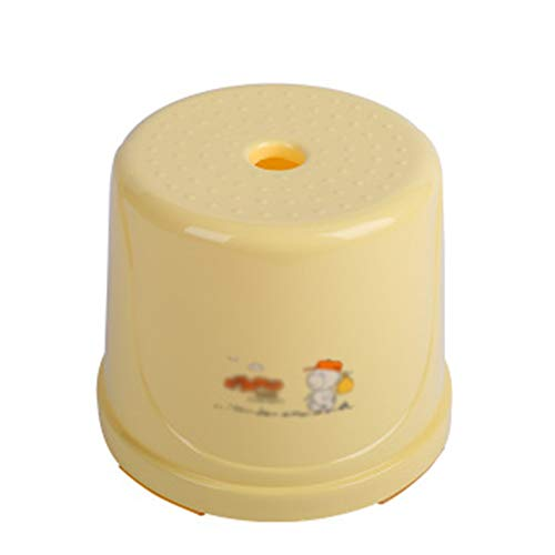 CQILONG Bathroom Foot Stool Children Step Toilet Assistance Kindergarten Small Bench Plastic Easy to Move, Bearing 120kg, 5 Styles (Color : Yellow-22x20cm, Size : 6 pcs)