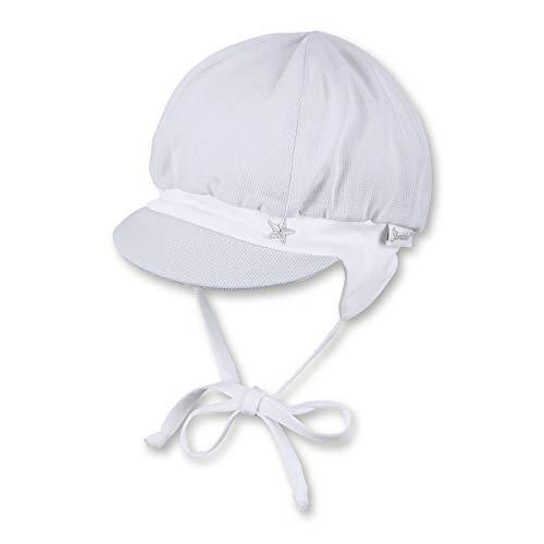 Sterntaler Ballonmütze für Jungen mit Bindebändern, Ohrenklappen und Muster mit Wal-Motiven, Alter: 12-18 Monate, Größe: 49, Weiß