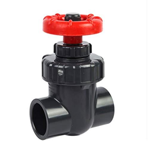 1pcs I.D 20/25/32/24 Mm Valvola di Cancello Controllo del Flusso di Precisione, Valvole A Sluice in PVC Valvola per L'irrigazione del Giardino (Size : Inner Dia 40mm(DN32))