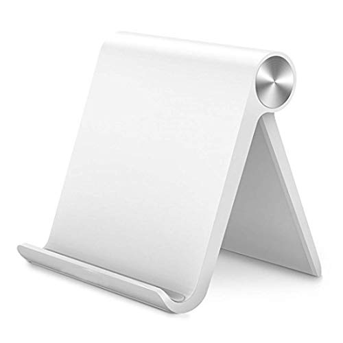UGREEN Handy Ständer Handyhalterung Tisch Aufsteller tragbar Handy Halter kompatibel mit iPhone 11 11 Pro Max X 8Plus Samsung Galaxy S10 M20 Huawei P30 P20 Pro Mate 20 bis 7.9 Zoll (Weiß)