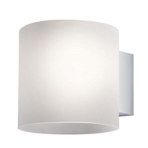 Nelli Marti Luce Tube/V–Lámpara de pared, color blanco plata satinado Luz difusa No Incluidas. Bombilla tamaño 2: ø14cm