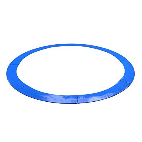 KAIA SPORTS - Cojín de protección universal Deluxe para cama elástica de 185 cm de diámetro, 244 cm de diámetro, 305 cm de diámetro, 366 cm de diámetro, 400 cm de diámetro, 424 cm de diámetro, resistente y anti UV, azul, 13FT - 400CM
