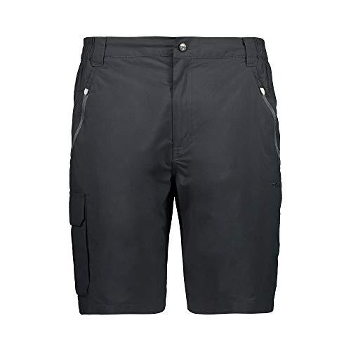 CMP Herren Tracking Bermuda Shorts mit Beintasche 30T6177, Antracite, 54