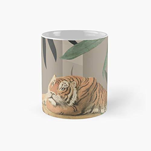 Tiger Jungle Amber - Taza de café con diseño de tigre (325 ml)