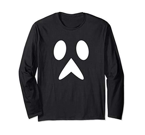 Spooky Halloween Face Einfaches Last-Minute-Halloween-Kostüm Langarmshirt