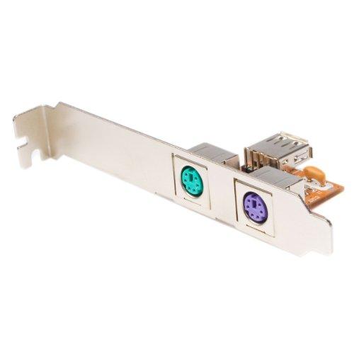 StarTech USB naar PS/2 adapter voor toetsenbord en muis - USB / PS2 converter, PS/2 km naar USB-stiftlijst, bruin