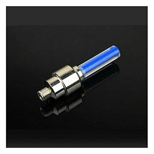 M-JJZX LED-Reifenrad-Ventilkappe Licht für Fahrrad-Motorrad-Rad-Licht-Reifen (Color : Blue)