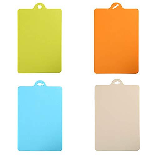 Hengqiyuan Tabla De Corte Adicional De 4 Partes, Tapete De Plástico Flexible De Plástico con Mangos Prácticos, Lavavajillas Seguro,A