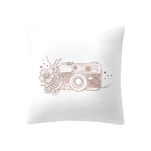 Chic Housse de Coussin Decoration Taie d'oreiller Décoratif Géométrique Oreiller Sofa Maison Throw Pillow Pillowcase Home Decor Coussins Housse D'oreiller Couvre Coussin Canapé Rose Or Style 18 WINJIN