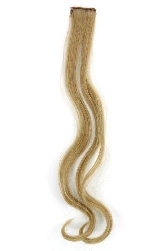 1 Clip Extension avec mèches ondulés, blond cendré clair YZF-P1C18-24 45cm/ 18inch Extension capillaire postiche Teinte: 24