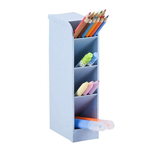 Organizador de escritorio, soporte multifuncional para bolígrafos, organizador de bolígrafos para oficina, escuela, suministros para el hogar (soporte para bolígrafo azul)
