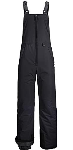 GEMYSE Men's Insulated Waterproof Ski Bib Overalls Winter Snowboarding Pants (Black,Large)