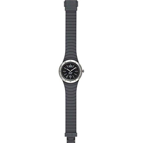 Orologio HIP HOP uomo METAL SOLARE quadrante nero e cinturino in silicone, metallo grigio, movimento SOLO TEMPO - 3H QUARZO
