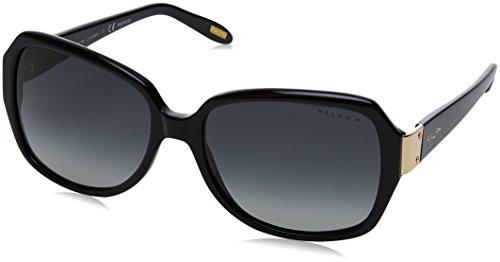 Ralph by Ralph Lauren RA5138 - anteojos de sol cuadradas para mujer, Negro y gradiente gris polarizado., 58 mm
