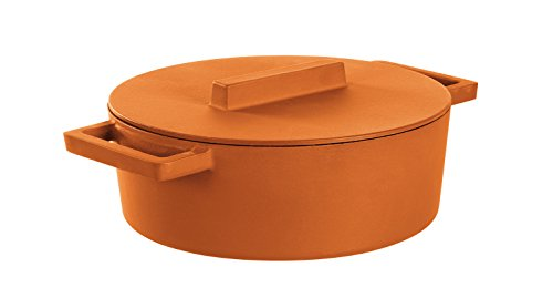 Sambonet Casseruola Ovale con Coperchio, Ghisa/Terracotta, Arancio Curry, 5 Litri, 30 x 25 cm