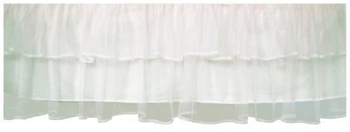 Tadpoles Triple Layer Tulle Crib Skirt in White by Tadpoles (English Manual)