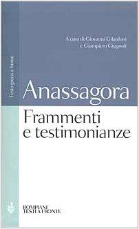 Frammenti e testimonianze. Testo greco a fronte