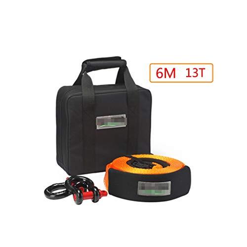 SGMYMX Abschleppseile Abschleppseil, Nylon Verdickung elastische Geländewagen, 6M, 13 Tonnen Hilfsschleppseil mit Handtasche Auto Traktionsseil
