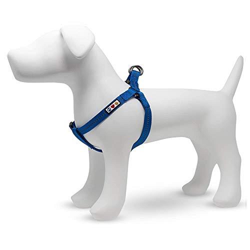 Pawtitas ♻️ Arnes para Perro Reciclado con Costura Reflectante | Arnes antiescape Perro Hecho de Botellas de plástico - Arnes Antitirones Perro Grande Oceano Azul
