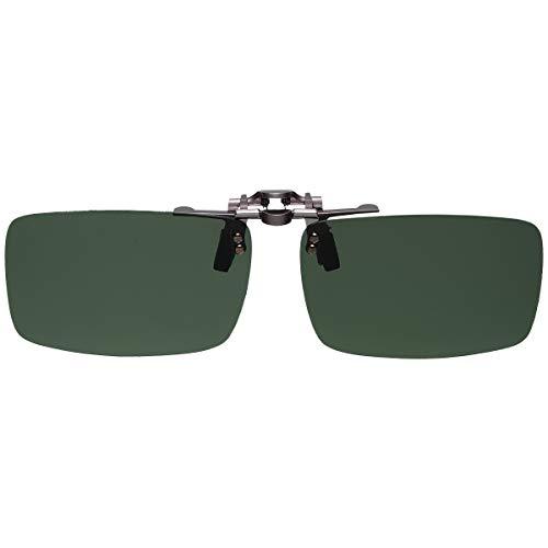 GoodsLand 【 8color 】 クリップオン サングラス 偏光 釣り 運転 調光 眼鏡 メガネ クリップ式 メンズ レディース GD-CL-GLASS-GR