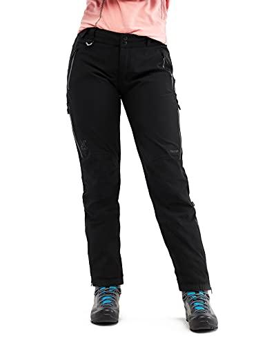 RevolutionRace Cyclone Rescue Pants, Damenhosen, Belüftete und wasserdichte Hose für Wanderungen und andere Outdoor-Aktivitäten, Black, 38