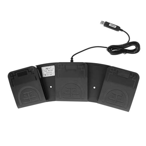 perfeclan Interruptor de Pie USB Controlador de Pedal Teclado Ratón 3 Pulsaciones de Teclas de Usuario PC Portátil