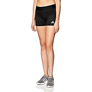 adidas Women's Alphaskin Volleyball 4-Inch Short Tights Black/White M4