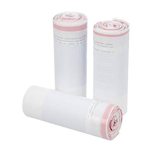 AmazonBasics - Bolsas de basura con cordón tipo H, 30-35 litros, lote de 20 bolsas, 3 lotes