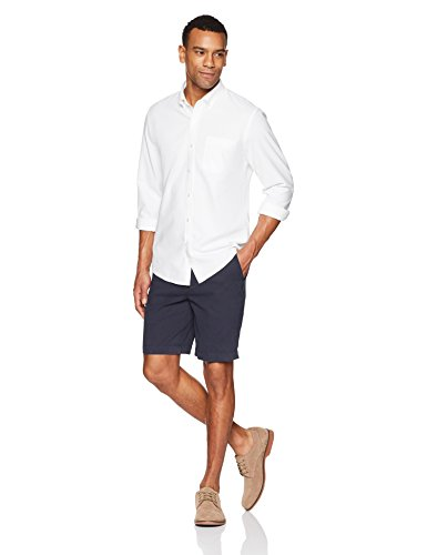 Goodthreads Standard-Fit Long-Sleeve Solid Oxford Shirt Hemd, white, Large