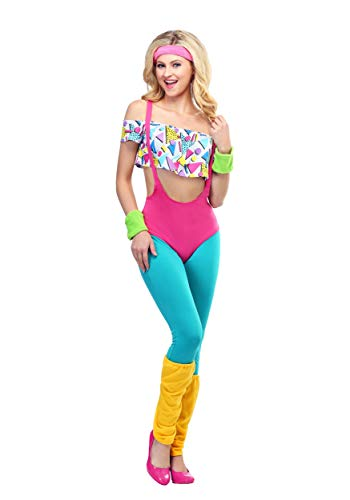 Women's Work It Out 80's Costume Small