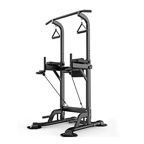 MNYHJDS Barra horizontal para el hogar, equipo de fitness, ajustable, barras paralelas para adultos, mango antideslizante, 300 kg, color negro, tamaño: 90 x 97 x 230 cm