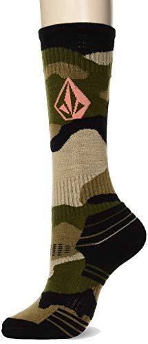 Volcom Damen TTT Lightweight Snow Socken, Verblasste Armee, X Small