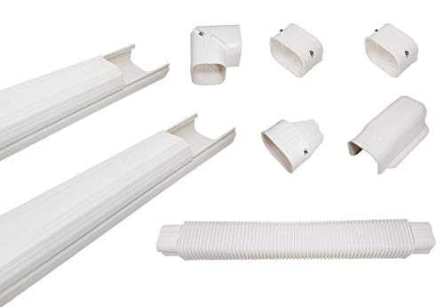 "Sealproof Premium Line Set Cover Kit for Ductless Mini Split Air Conditioners and Heat Pumps, 3"" Wide, Covers up to 15 FT"
