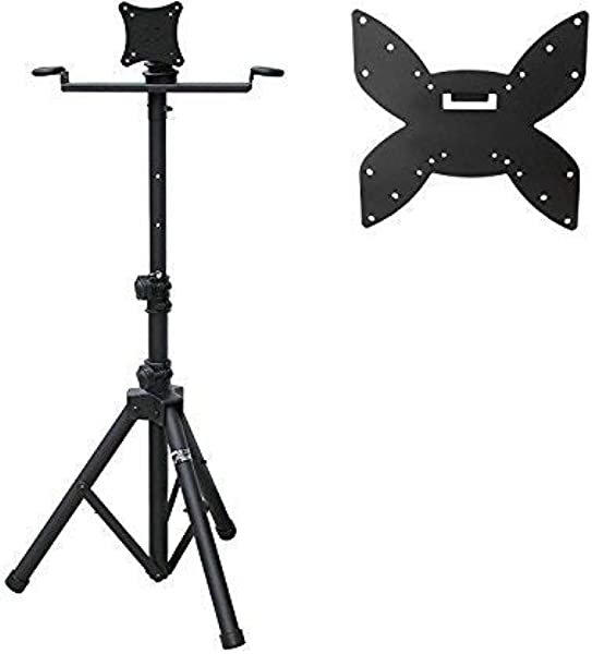 Audio 2000S AST421Y Portable Flat Screen Panel LCD LED TV Monitor Stand With Foldable Tripod Legs Including A 200 X 200 Mm Standard VESA Mounting Plate With M6 Screws