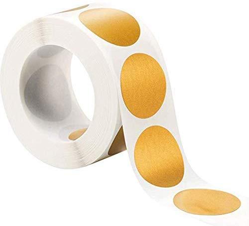 300pz Gratta e Vinci Adesivo Etichette Scratch Sticker Cerchio per Regalo Bighietto Matrimonio Festa Fai da Te Oro (2.5 cm)