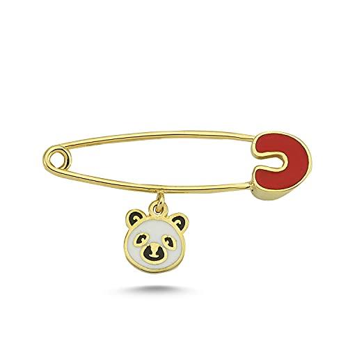 14k (585) Gold Enamel Unisex Bear Design...